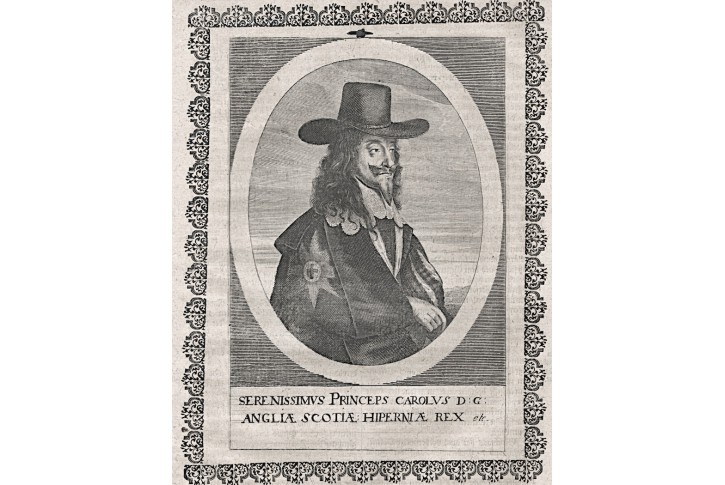 Karel I.., Merian,  mědiryt 17 stol