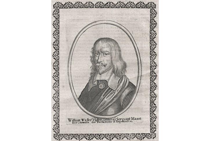 William Waller, Merian, mědiryt, 1651