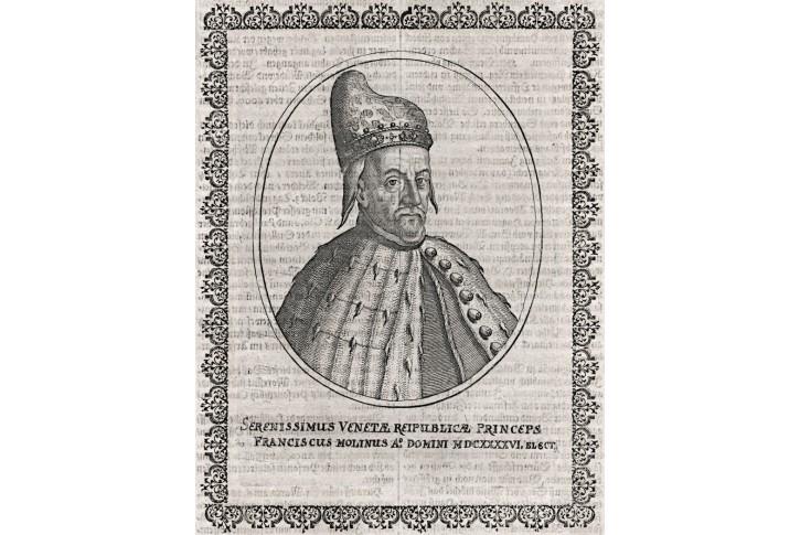 Franciscus Molinus, Merian, mědiryt, 17. stol