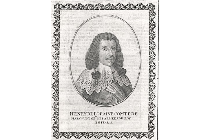 Henry Harcourt, Merian, mědiryt, 1651