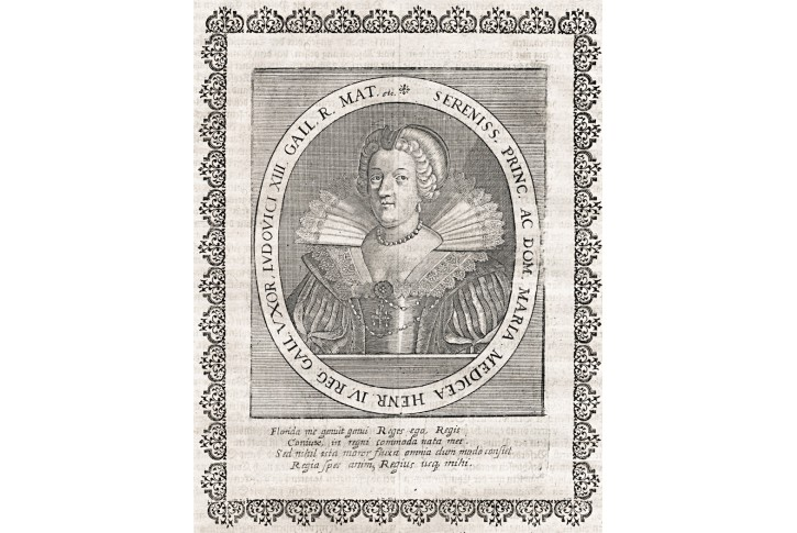 Maria Medici, Merian, mědiryt, 1643