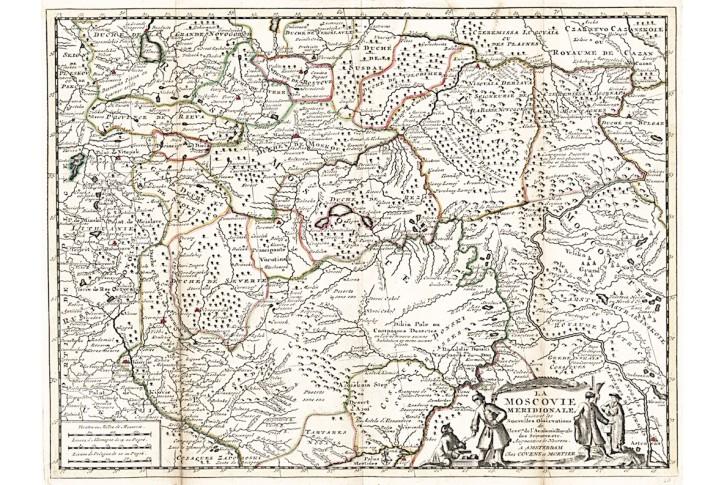Covens - Mortier : La Moscovie , mědiryt 1730
