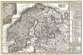 Schreiber : Schweden Norw.., kolor. mědiryt, 1749