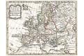 Leth H. de : Europe , mědiryt 1720