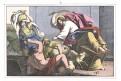 Vyhnání obchodníků z chrámu, kolor. litogr., 1860
