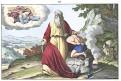 Obětování Izáka, kolor. litogr., 1860