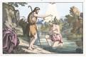 Ježíšův křest, kolor. litogr., 1860