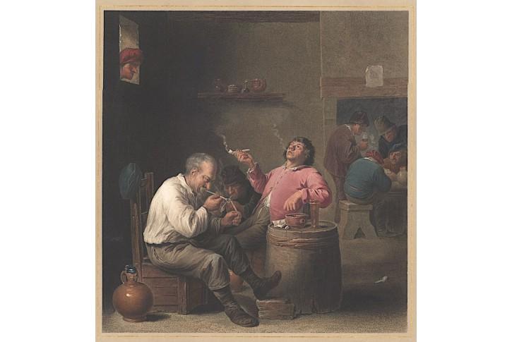 Kuřáci, podle Tenierse, Cooper, kolor. lept, 1813