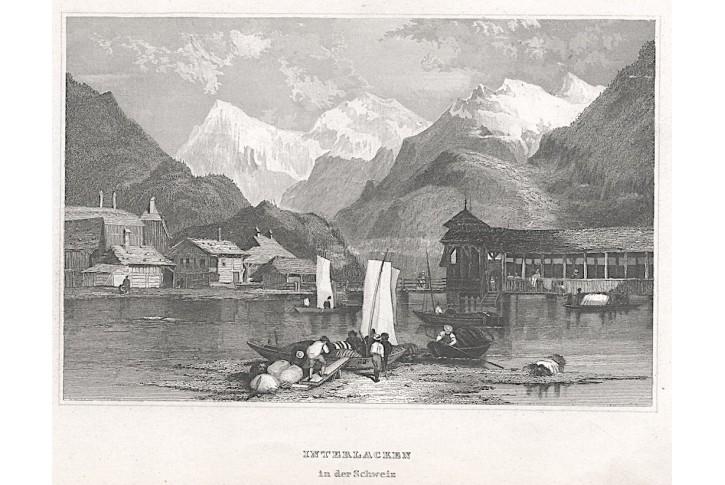 Interlacken, Meyer, oceloryt, 1850