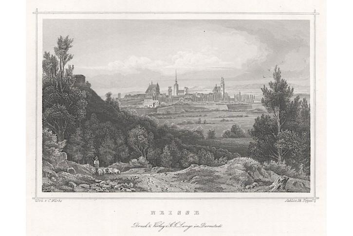 Nysa - Neisse , Lange,  oceloryt, (1850)