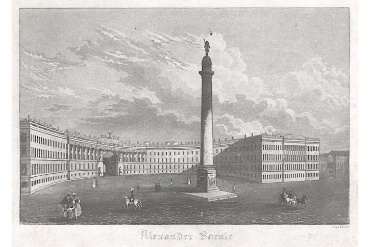 Petrohrad Alexander, akvatinta, (1830)