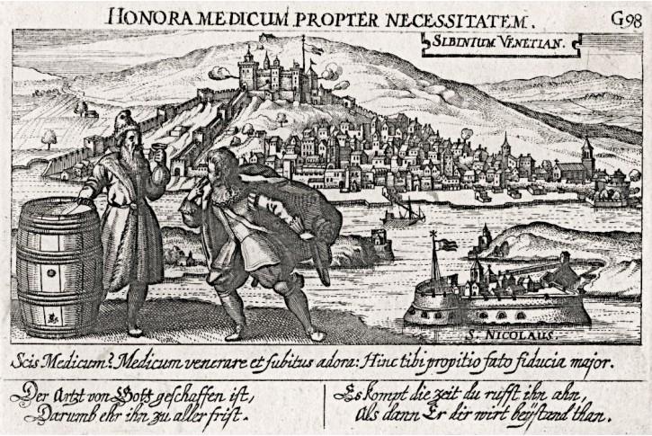 Šibenik Chorvatsko, Meissner, mědiryt, 1637