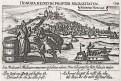 Šibenik, Chorvatsko, Meissner, mědiryt, 1637