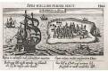 Mombasa Keňa, Meissner, mědiryt, 1637