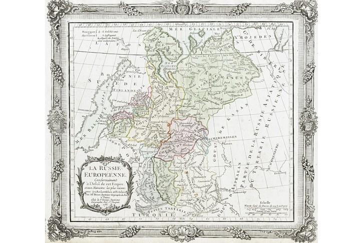 Russiene Europeenne, Brion, mědiryt, 1786