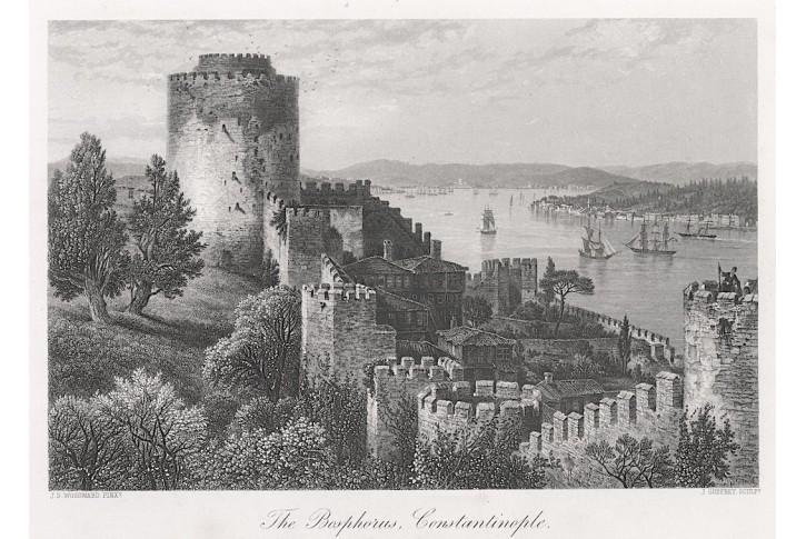 Bospor Istanbul, oceloryt, (1870)