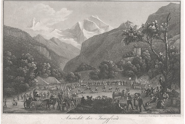 Jungfrau, Mayer, oceloryt, (1860)
