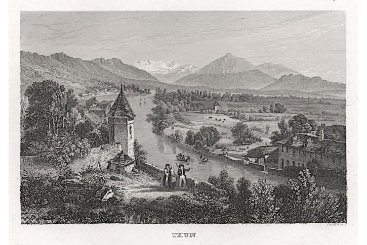 Thun am Thuner See, oceloryt, 1850