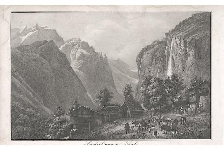 Lauterbrunnenthal, oceloryt, 1850