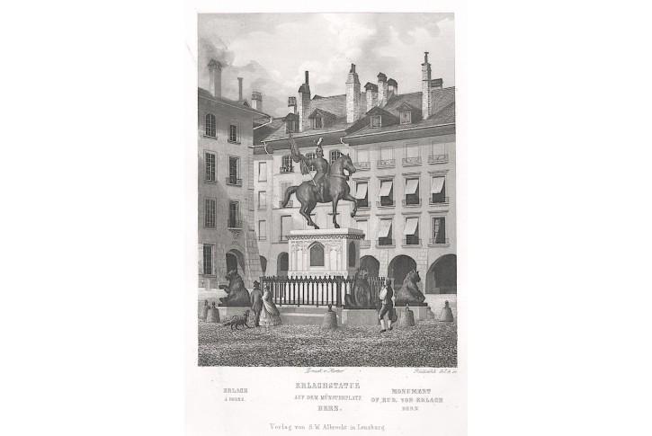 Bern Erlachstatue, Albrecht, oceloryt, (1840)