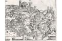 Jerusalem, Schedel, dřevořez 1493