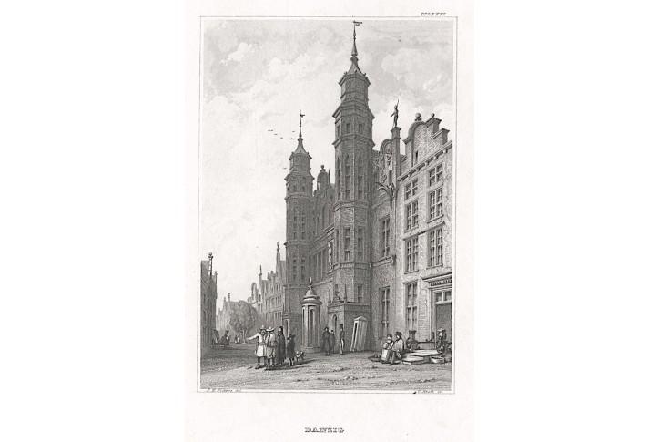 Gdaňsk, Meyer, oceloryt, 1850