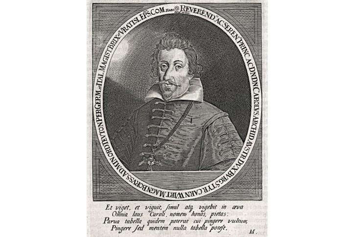 Karel Štýrský (biskup), Merian, mědiryt,17. st.