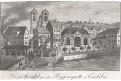 Karlovy Vary vřídlo ,  mědiryt , (1820)