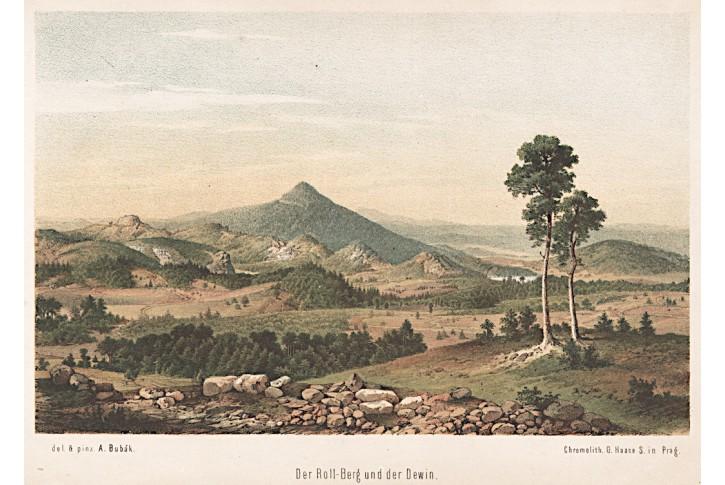 Ralsko Děvín, Bubák, litografie, 1869