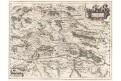 Janssonius J.: Stiria Steyrmarck,  mědiryt, (1660)