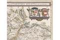 Mercator - blaeu, Saltzburg, mědiryt, (1640)