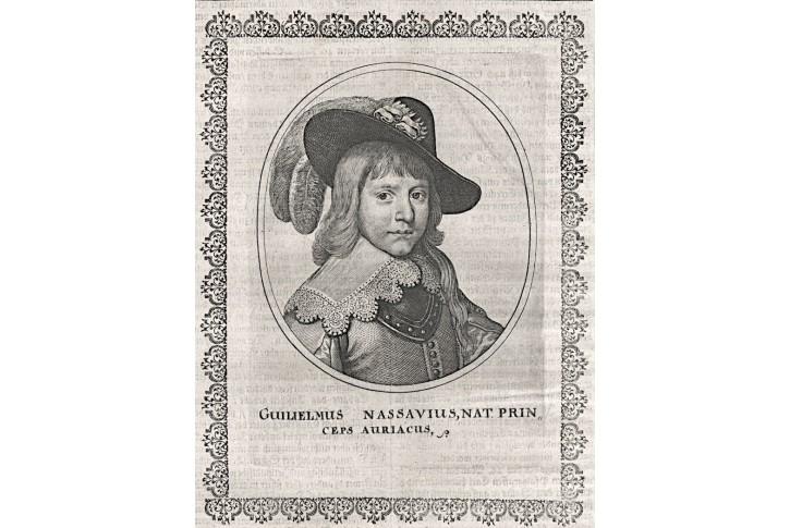 Vilém I. Oranžský, Merian,  mědiryt 1641