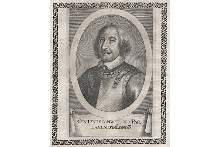 Cromwel, Merian,  mědiryt 1652