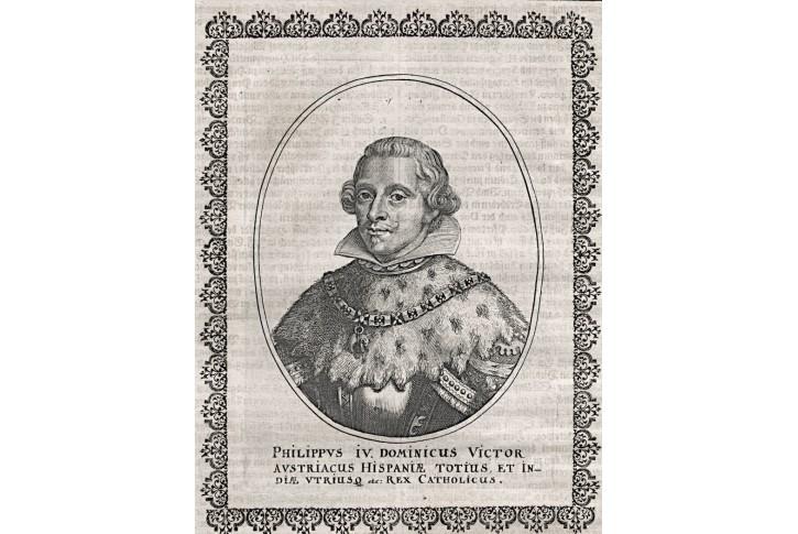 Filip IV., Merian,  mědiryt (1650)