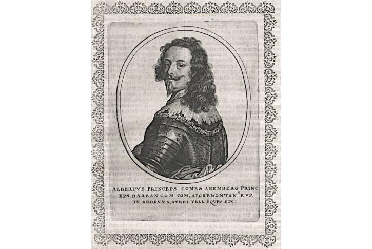 Albertus Aremberg, mědiryt, (1650)