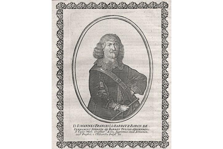 Francis de Barbitz, Merian,  mědiryt 1652