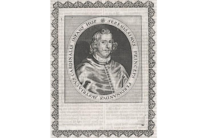 Ferdinad d Austria, mědiryt, (1650)