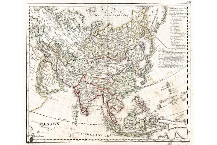 Asie , Sotzman , mědiryt, 1795