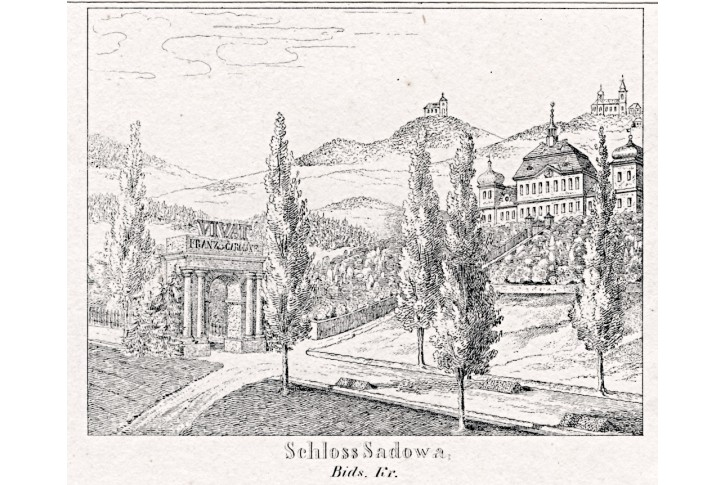 Sadová, Glasser, litografie, 1836