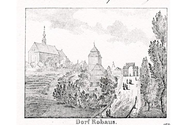 Robousy - Jičín, Glasser, litografie, 1836