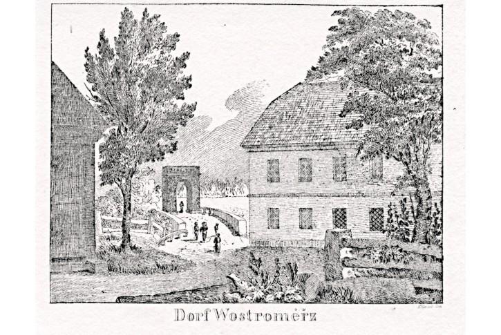 Ostroměř, Glasser, litografie, 1836