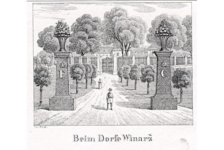 Vinoř,  Glasser,  litografie, 1836