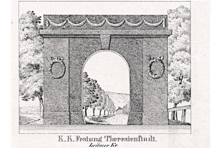 Terezín, Glasser, litografie, 1836