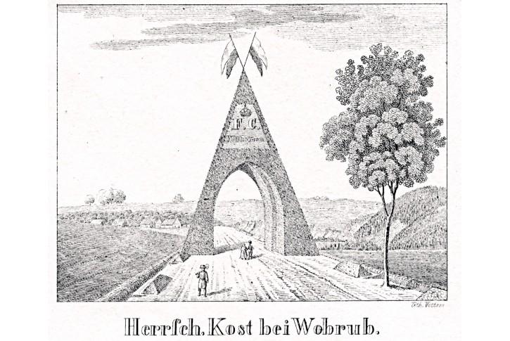 Otruby, Glasser, litografie, 1836