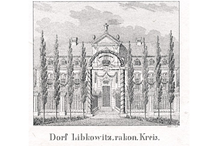 Libkovice, Glasser, litografie, 1836