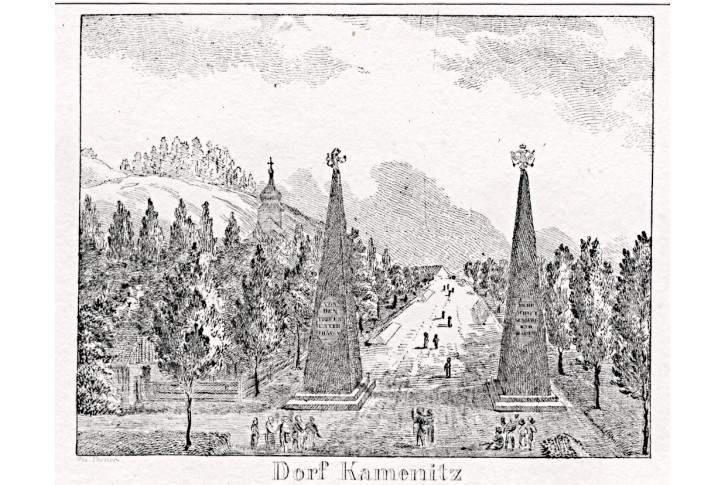 Kamenice,  litografie, 1836