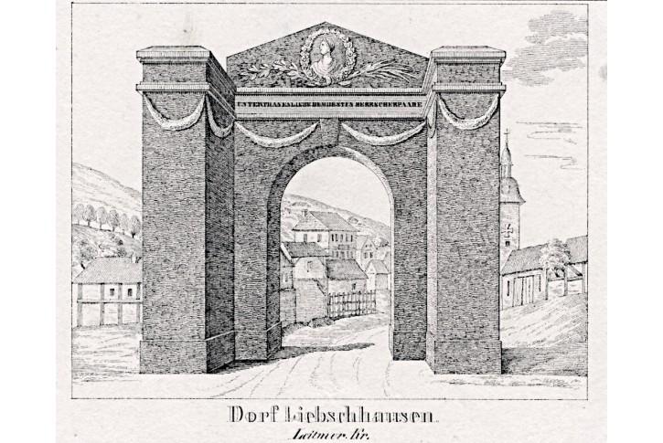 Libčeves, Glasser, litografie, 1836