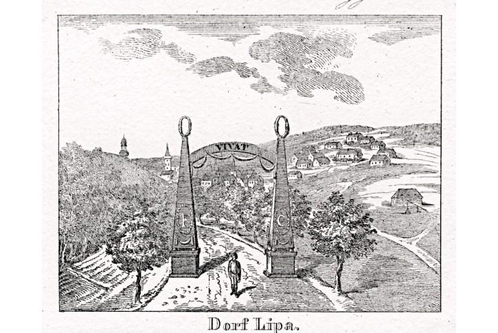 Lipá nad Orlicí, Glasser, litografie, 1836