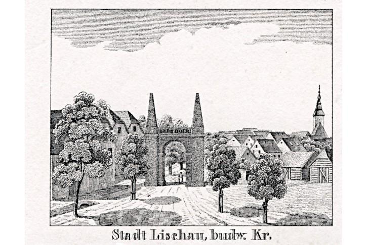 Lišov,  Glasser, litografie, 1836