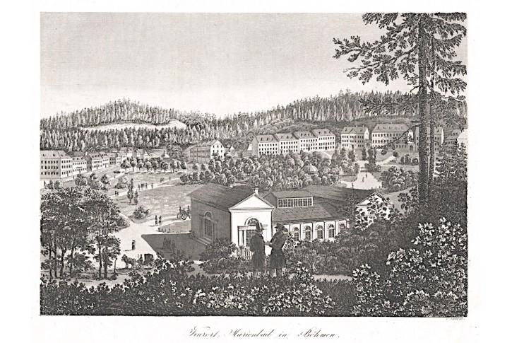 Mariánské lázně, Pernold,  mědryt, 1845